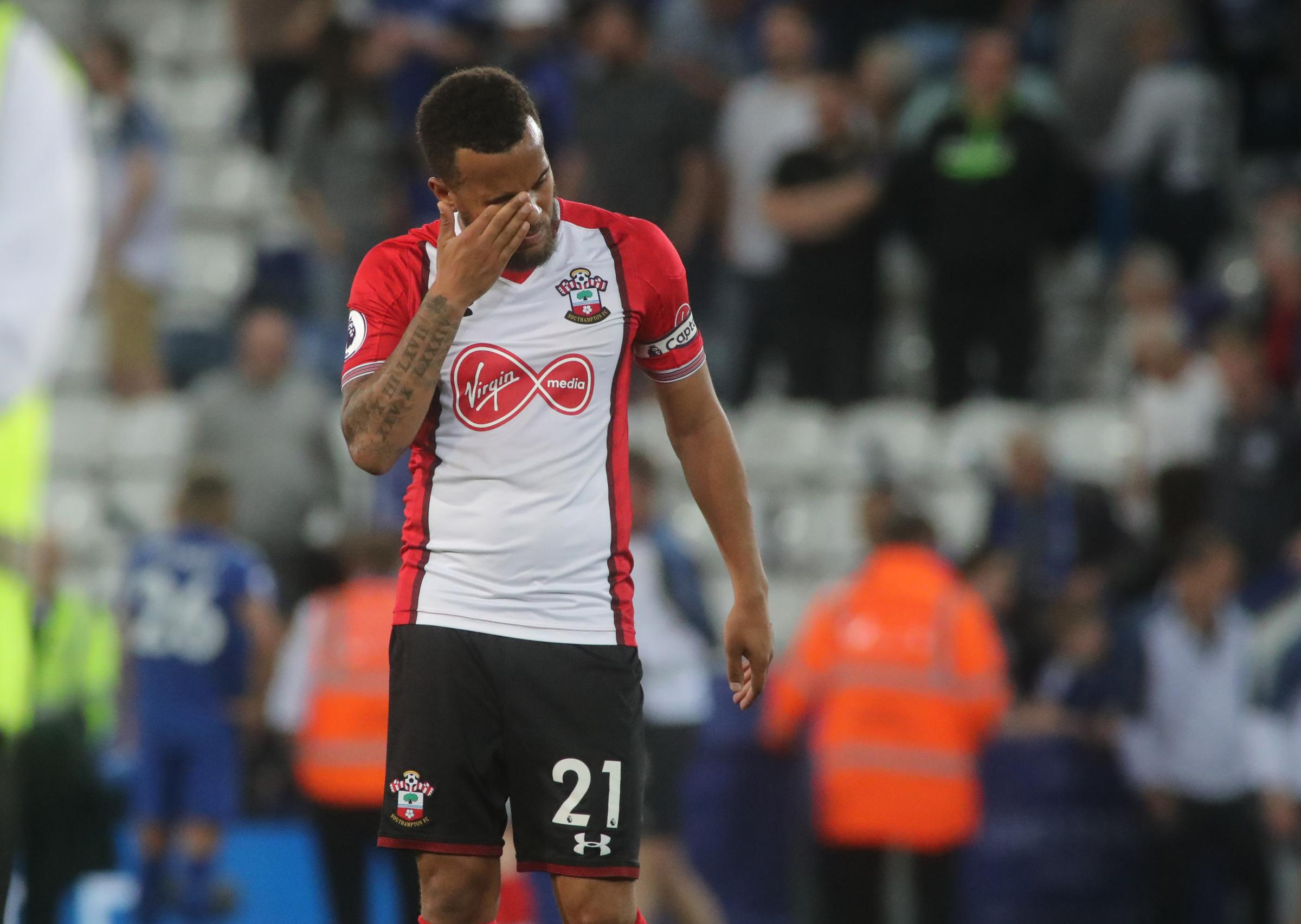 Ryan Bertrand after the game at Leicester