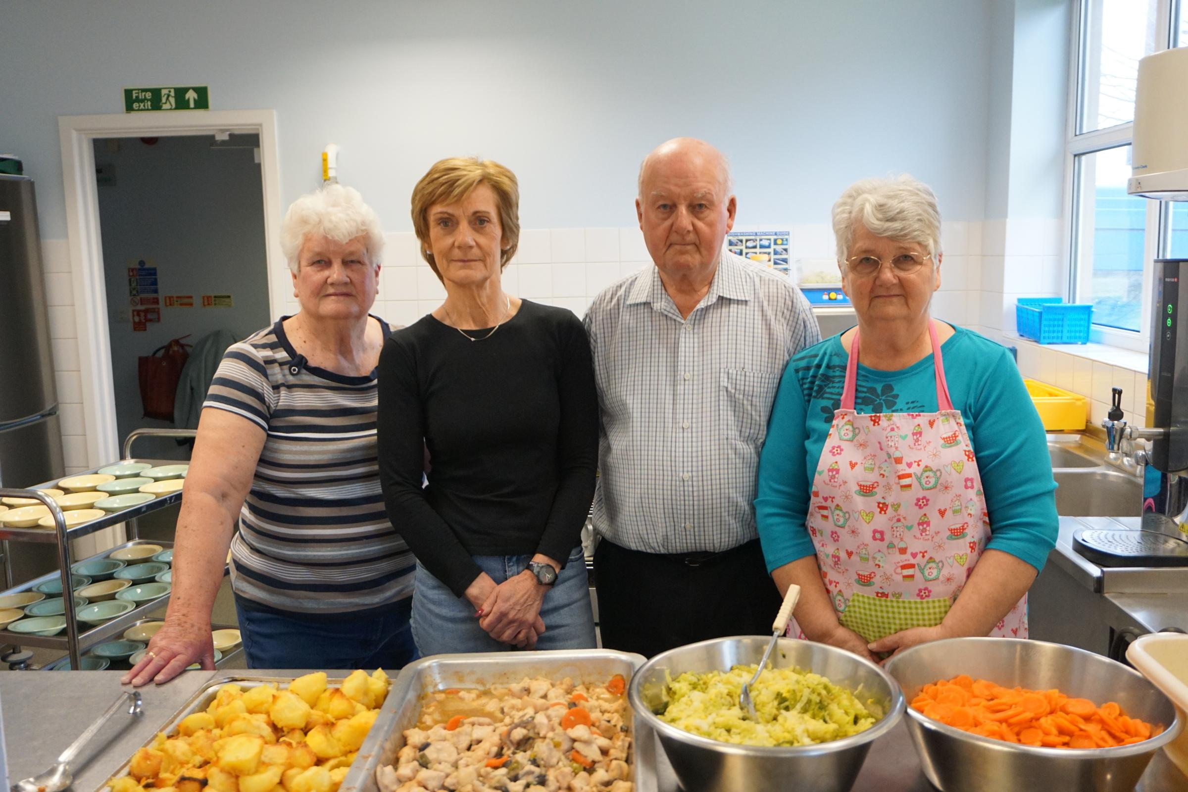 Volunteers Yon Harvey, Julie Allsopp, Ivor Dymott, Wendy Dymott..