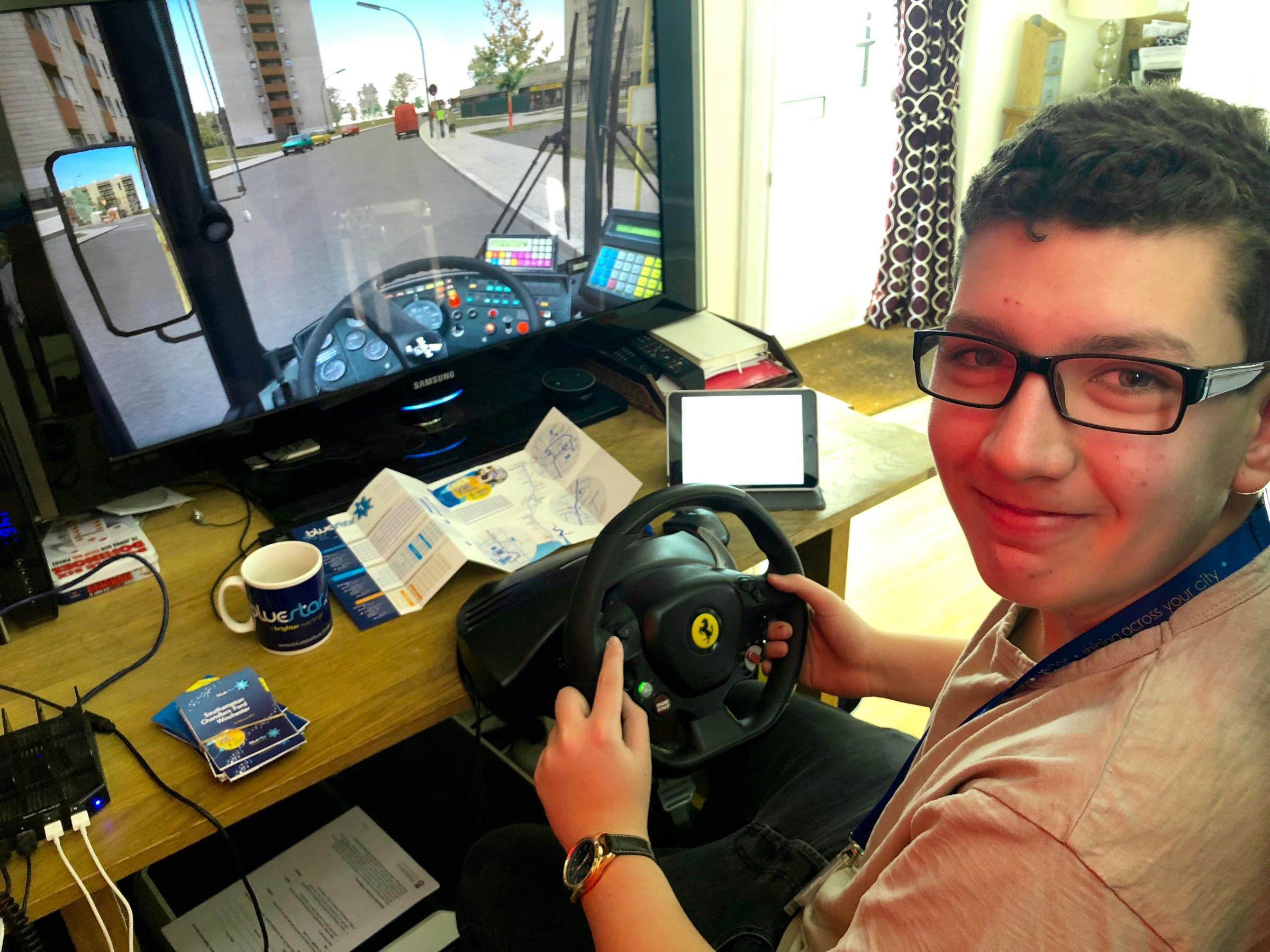 Jowen on his own bus simulator