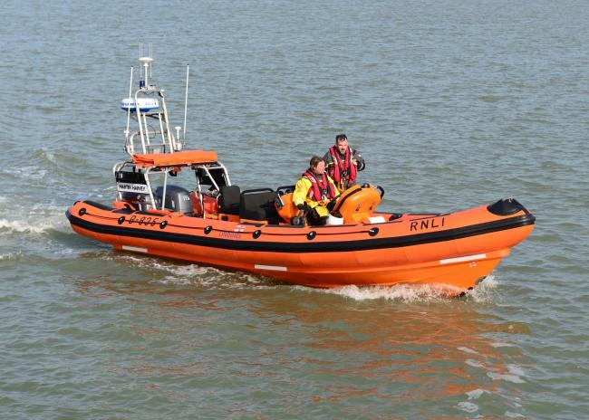 Cowes lifeboat (stock image)