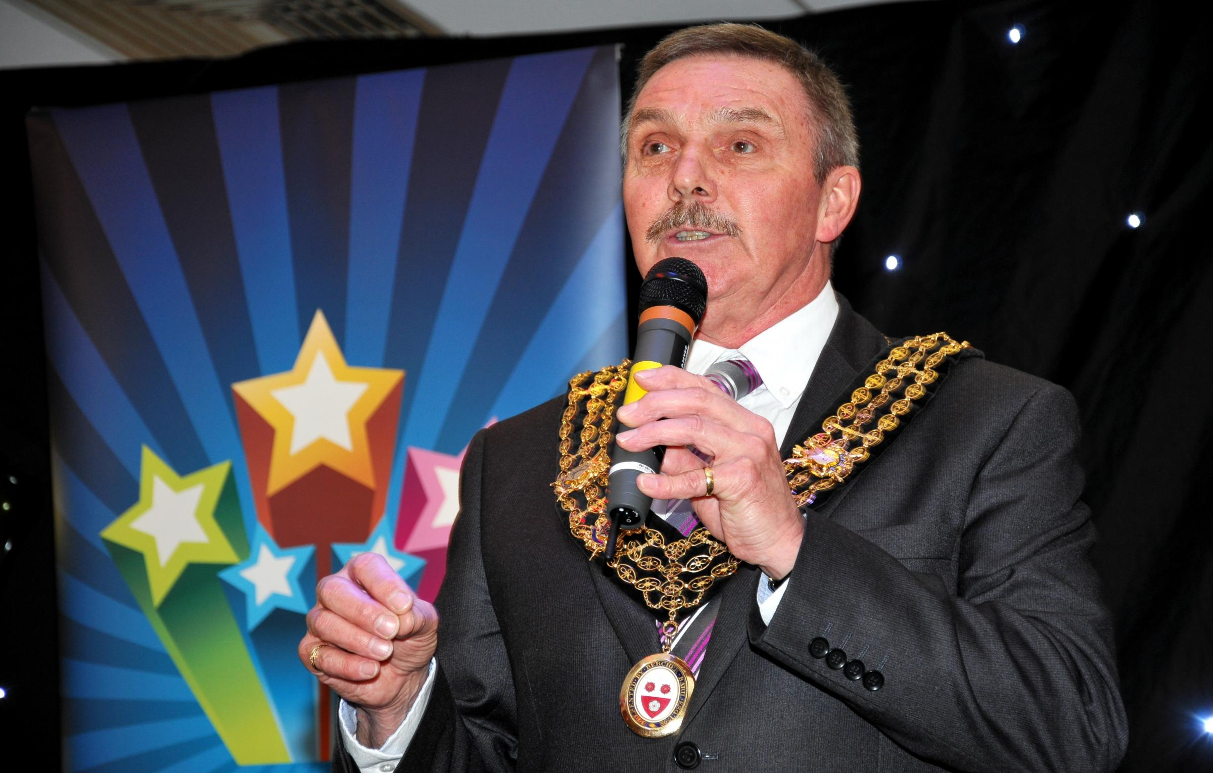 Mayor of Southampton, Cllr Derek Burke, in 2012