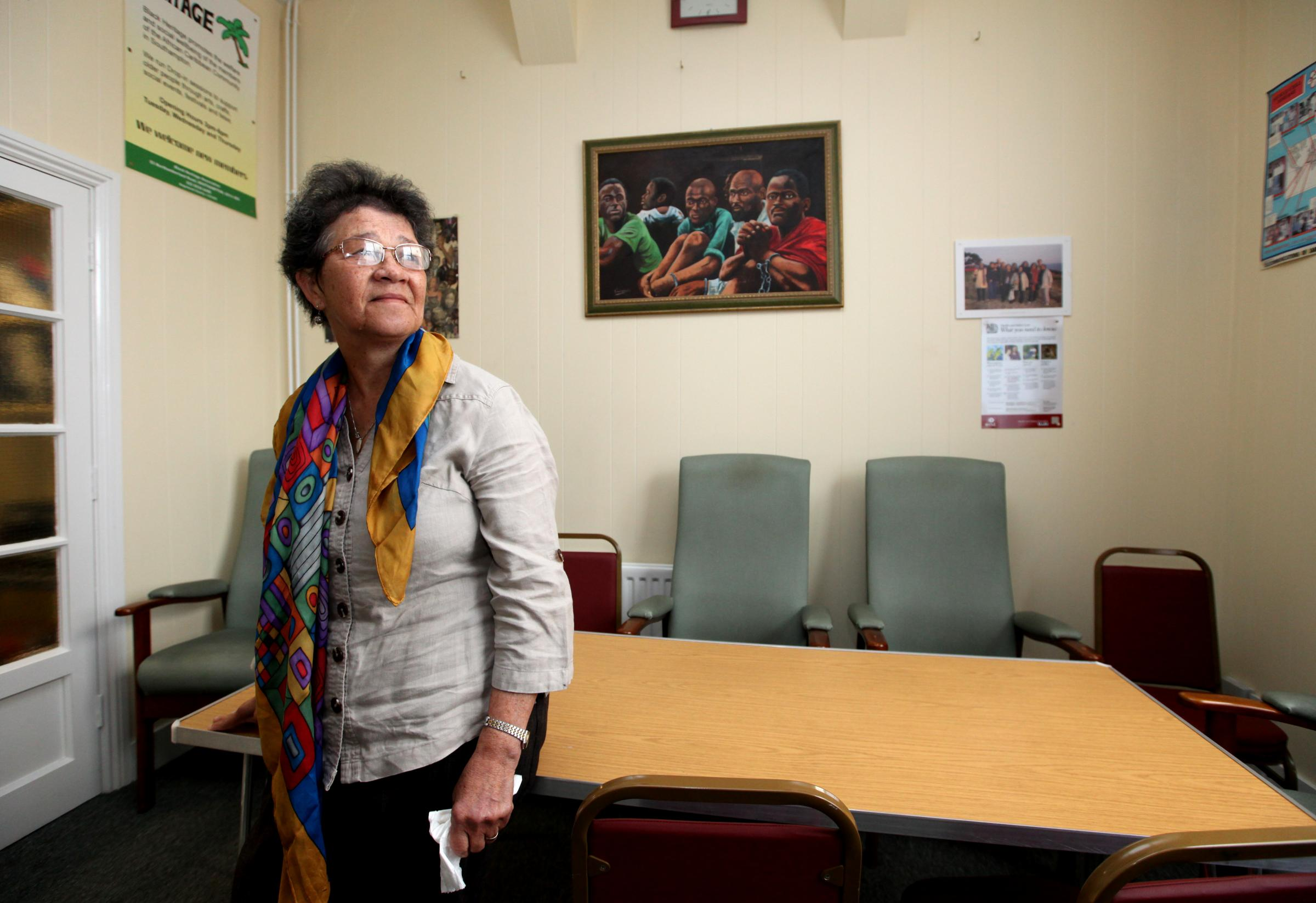14 May 2015 - The Black Heritage Association is under threat due to lack of government funding, Beverley Dowdell pictured at the Centre where the association is based.