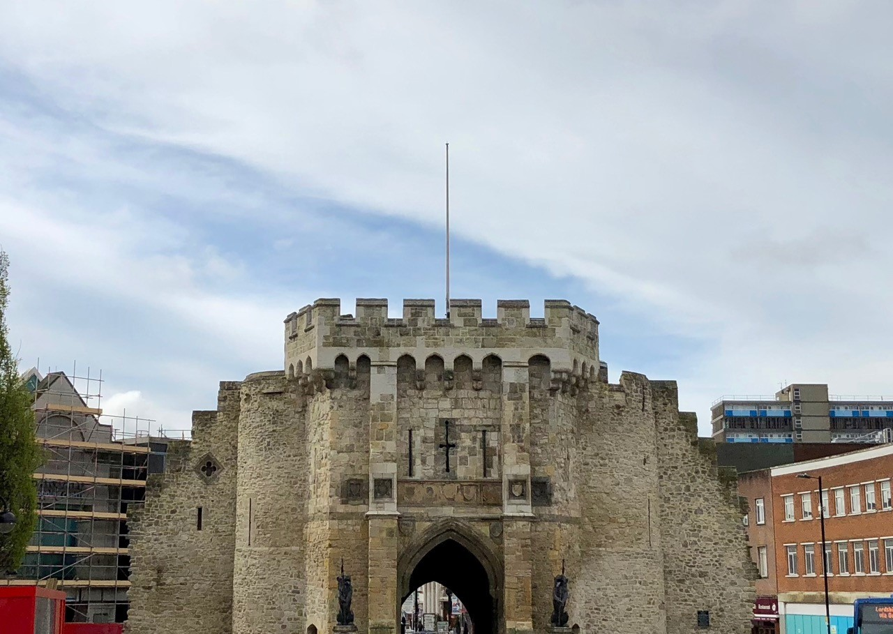 Bargate, not flying St George flag on St George's Day, taken by letter writer Paul Wood
