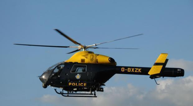 The police helicopter was sent from NPAS's Barton base