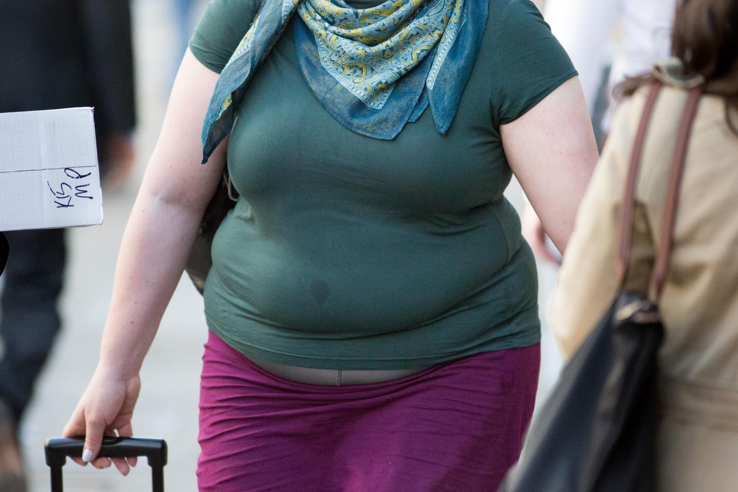 File photo dated 23/04/15 of an obese woman. Including nutritional information on restaurant and cafe menus may help to tackle the growing problem of obesity, a new study suggests. PRESS ASSOCIATION Photo. Issue date: Tuesday February 27, 2018. A new Coch