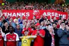 Arsenal fans say goodbye to Arsene Wenger (Nigel French/Empics)
