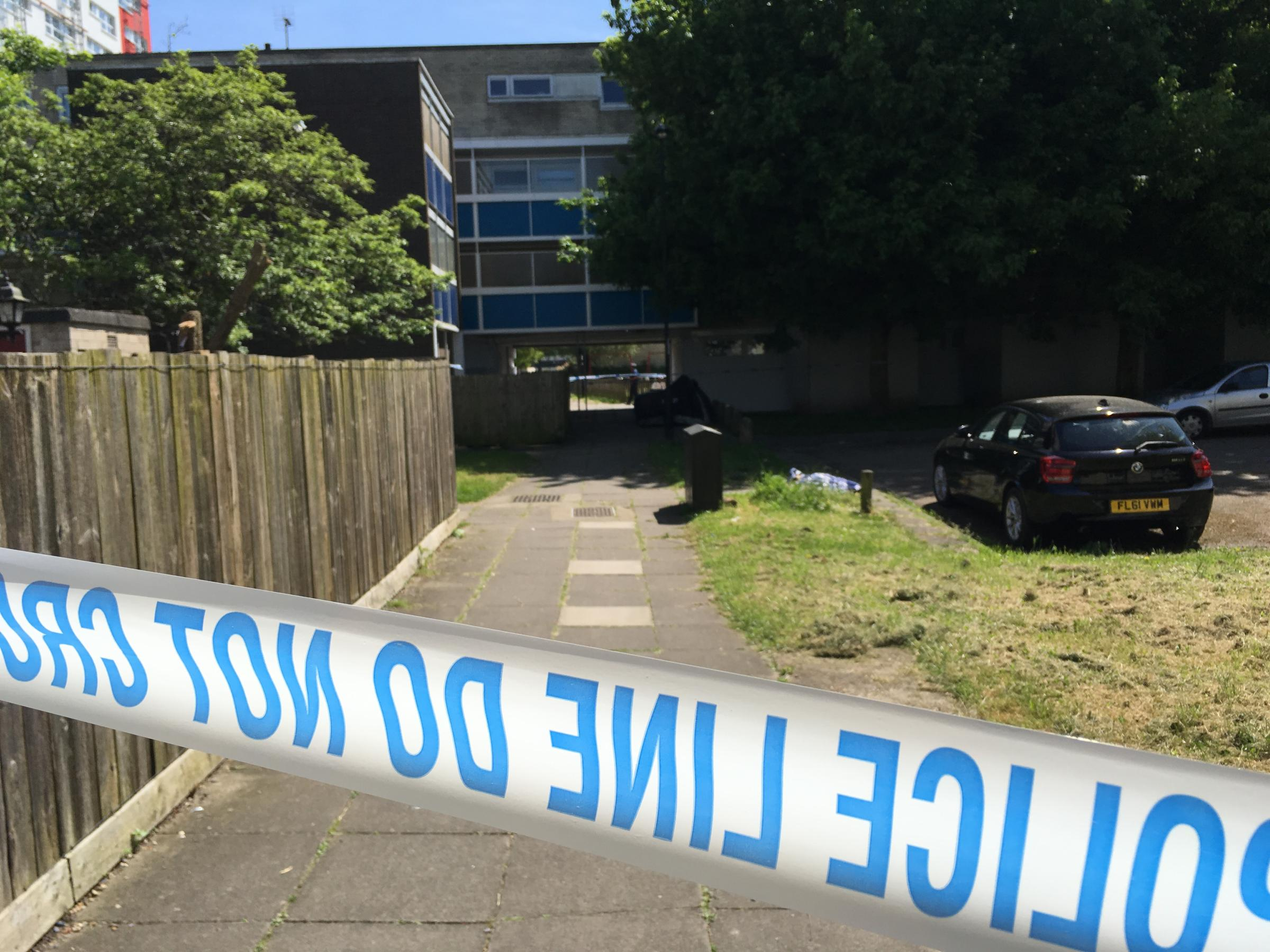 Police at the scene of Albion Towers (17/05/2018)