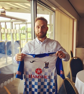 Liam Crook when he joined the Stags in the summer (photo: AFC Totton)