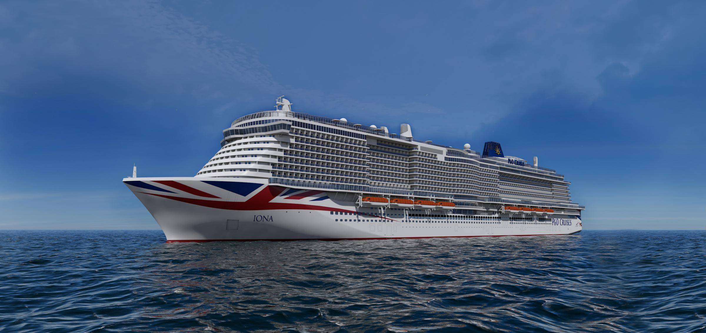 CGI of P&O's Iona, which is due to come into service in 2020.
