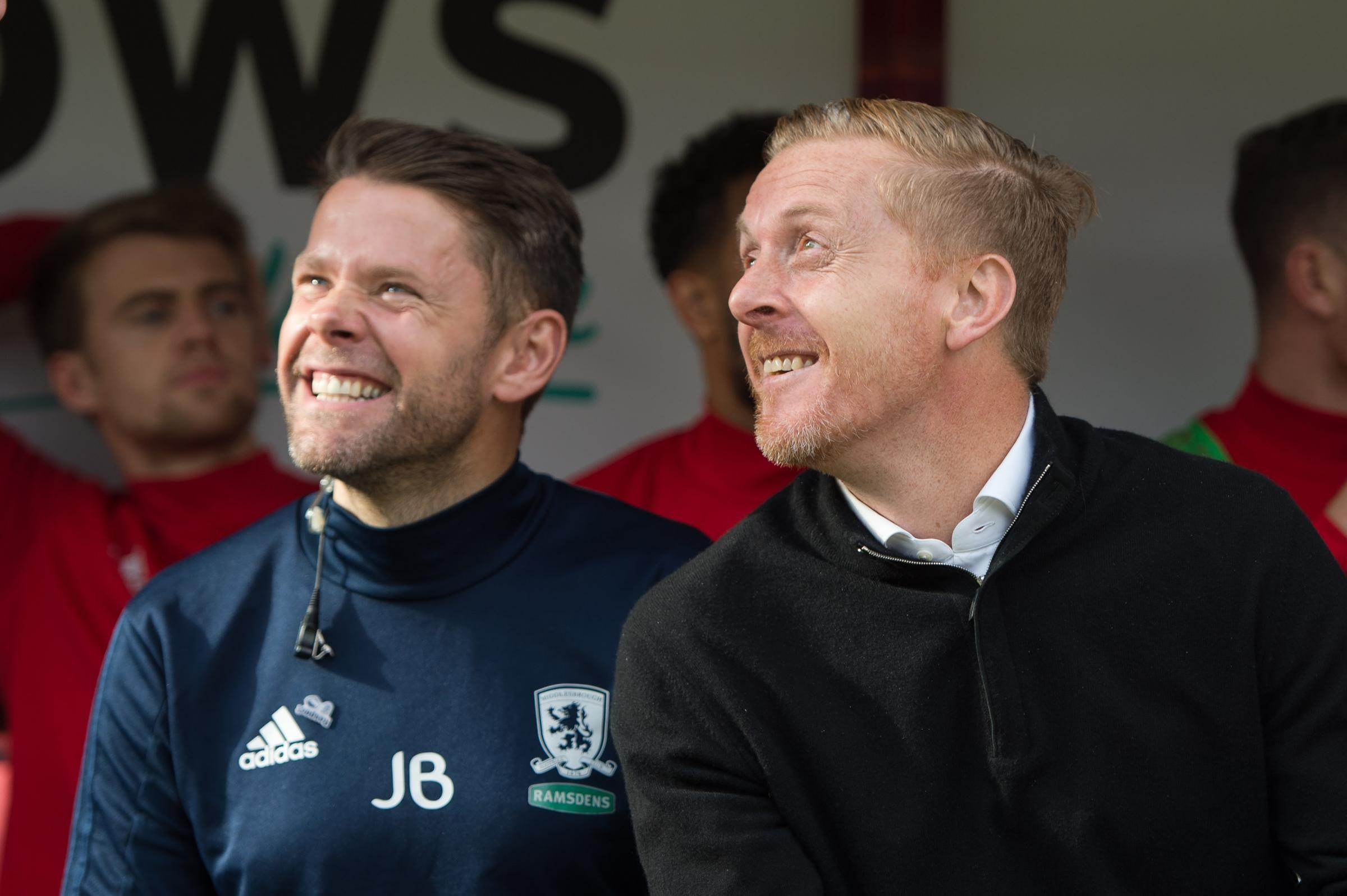 James Beattie (left) and Garry Monk. Photo: Pat Isaacs, MI News & Sport