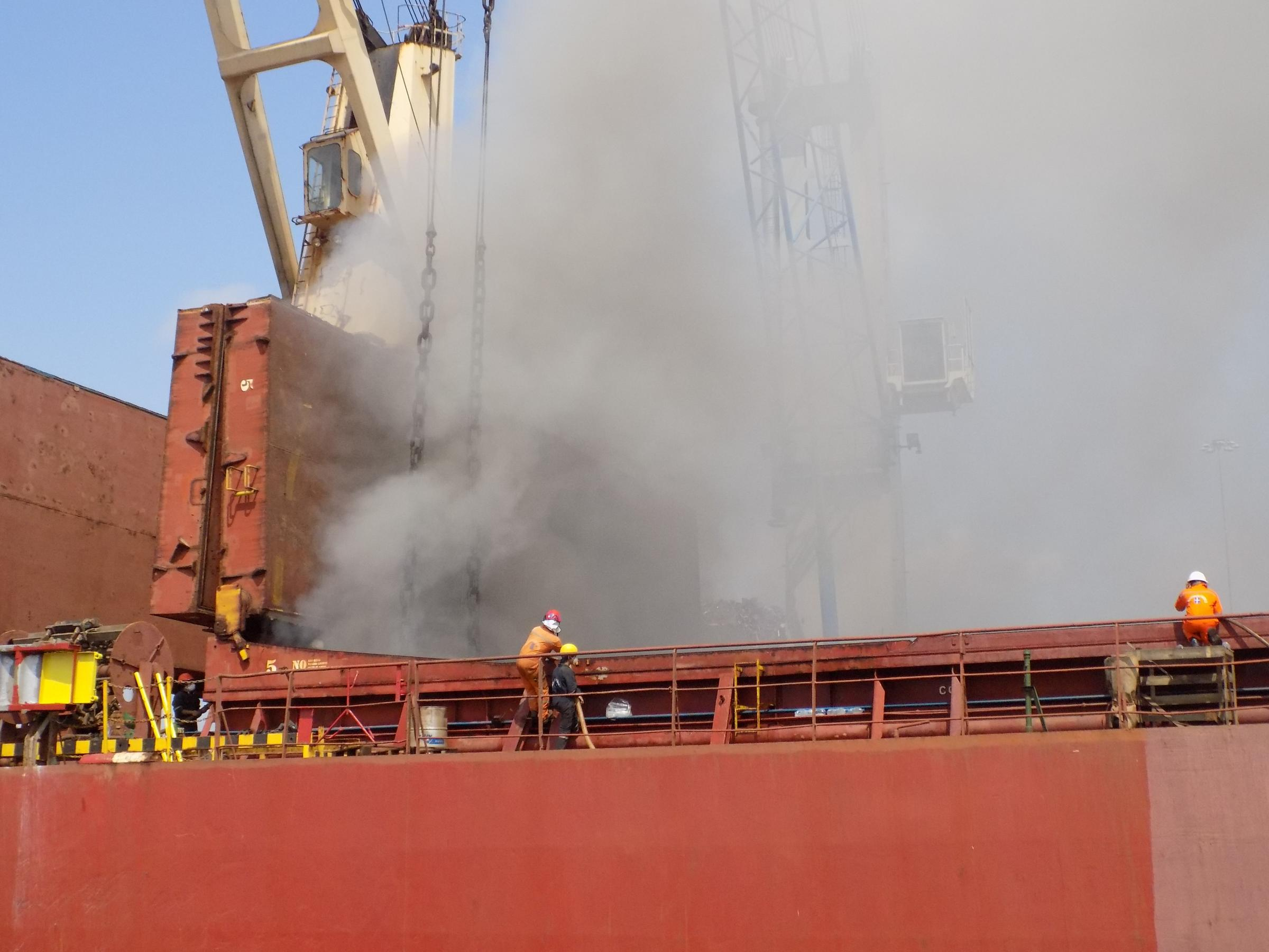 Fire at Southampton docks