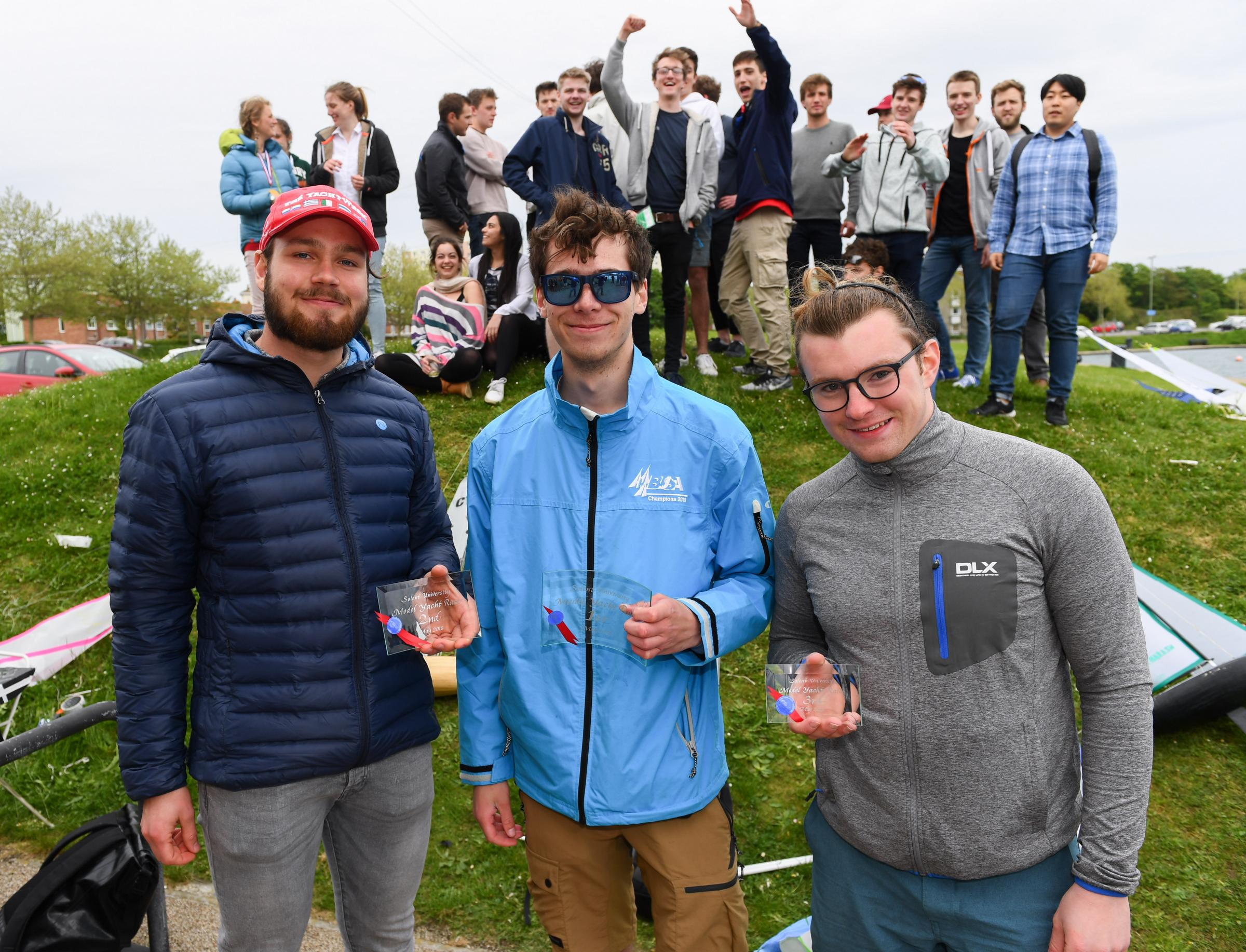 Paul Watts/PBWPIX - Solent Sailing competition winners  (L-R) Elias Paakkinen (2nd place), Noah McWatters (1st place) and Felix Trattner (3rd Place)