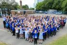 Hightown Primary School celebrate a good Ofsted report.