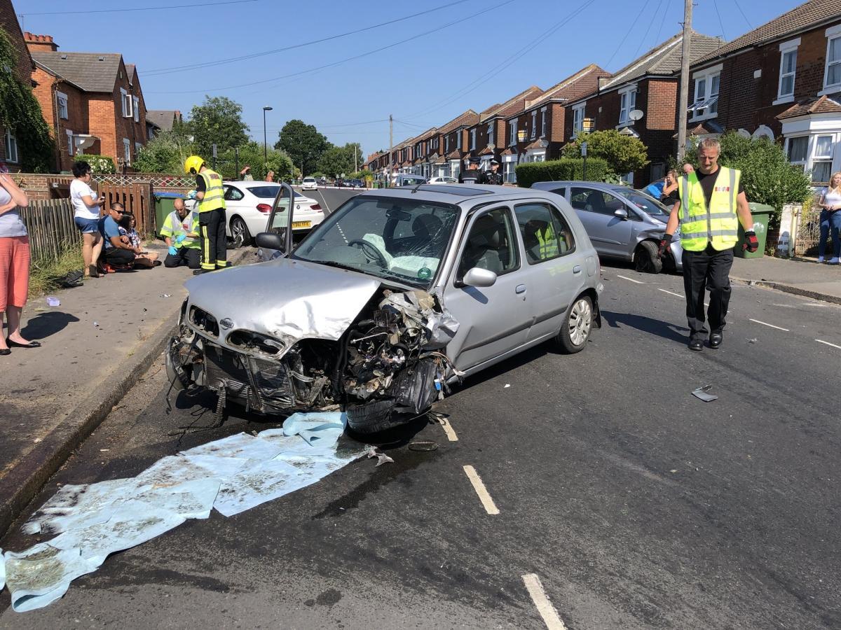 PHOTOS: Southampton road reopens after three-car crash   Daily Echo