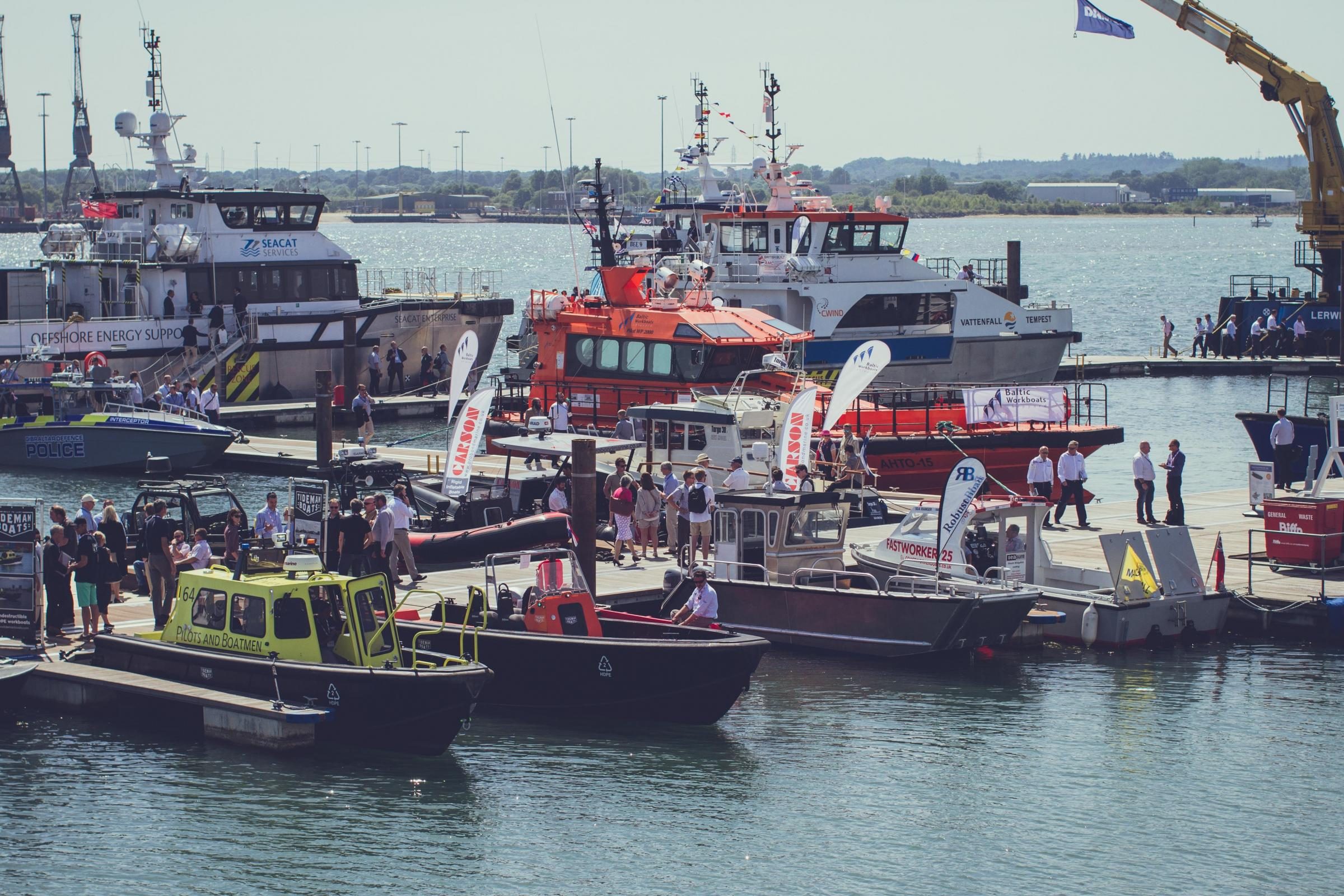 Boats in Southampton (stock image)