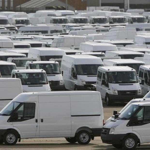 Transit vans at Southampton Docks