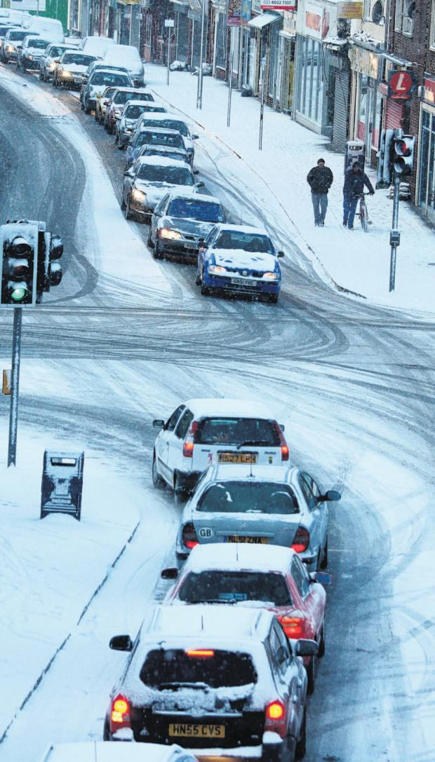 Drivers warned to avoid roads when snow comes