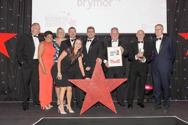South Coast Business  with Sir Geoff . Trethowans Business of the year Winners Brymor Construction.