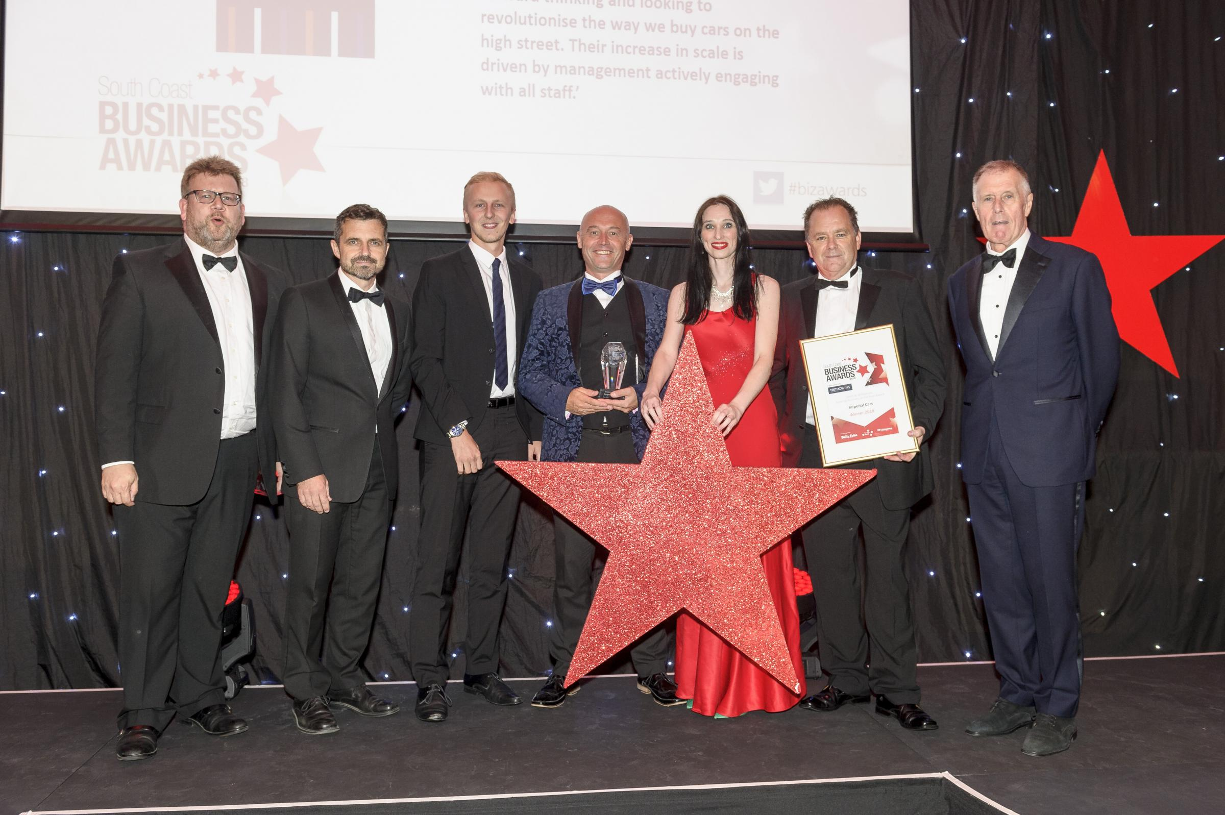 South Coast Business  with Sir Geoff . Smith & Williamson Scale up business of the year winners Imperial cars.
