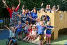 Blackfield Nursery School celebrates their good Ofsted report.