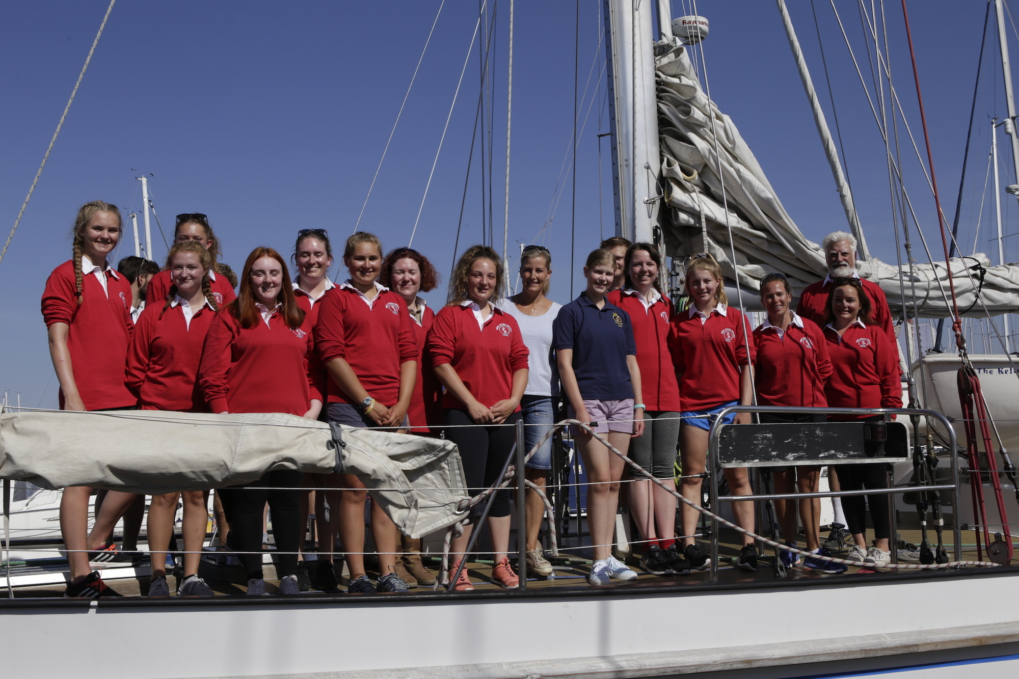 Max Mudie- ASTO PATRON Donald Searle with the teens taking part in the sailing adventure