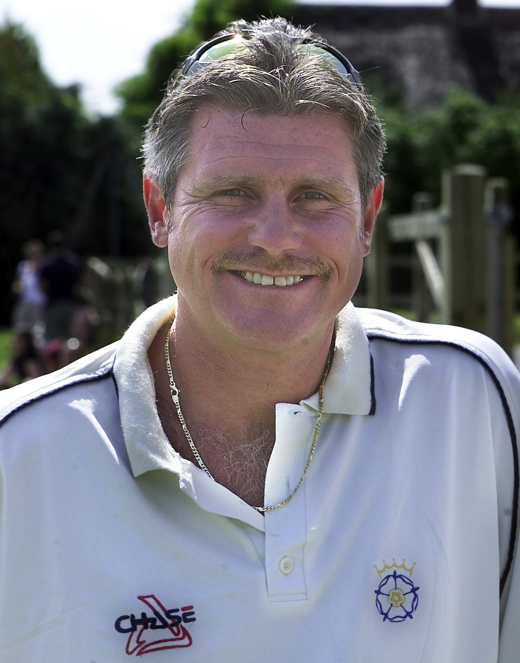 Pur Club 100 1 Phot PT 25 7 2004.Former Hampshire Captain ans England cricketer Robin Smith at the Bere Rigis Cricket Clubs 100 year game..