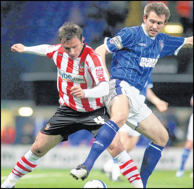 Marek Saganowski in action for Saints in 2009