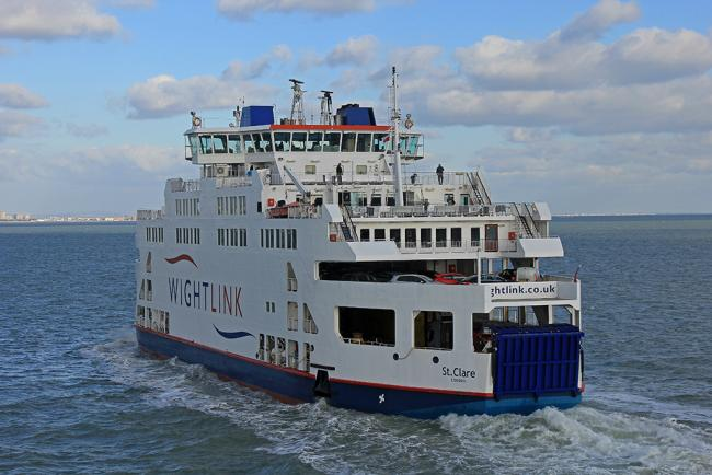 The Wightlink ferry St Clare.