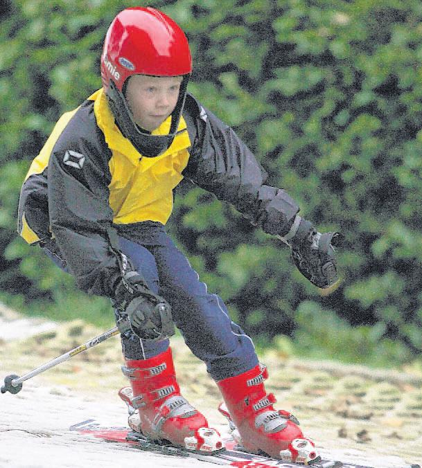 A child at Southampton Ski Slope