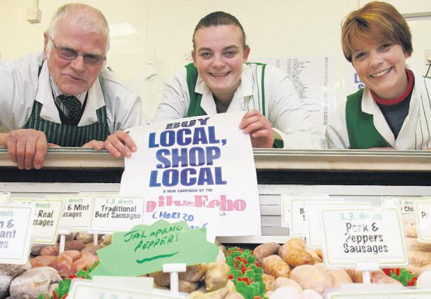 Les Smith, Nicola Burgess and Donna Smith of LJ Smith Butcher Ltd