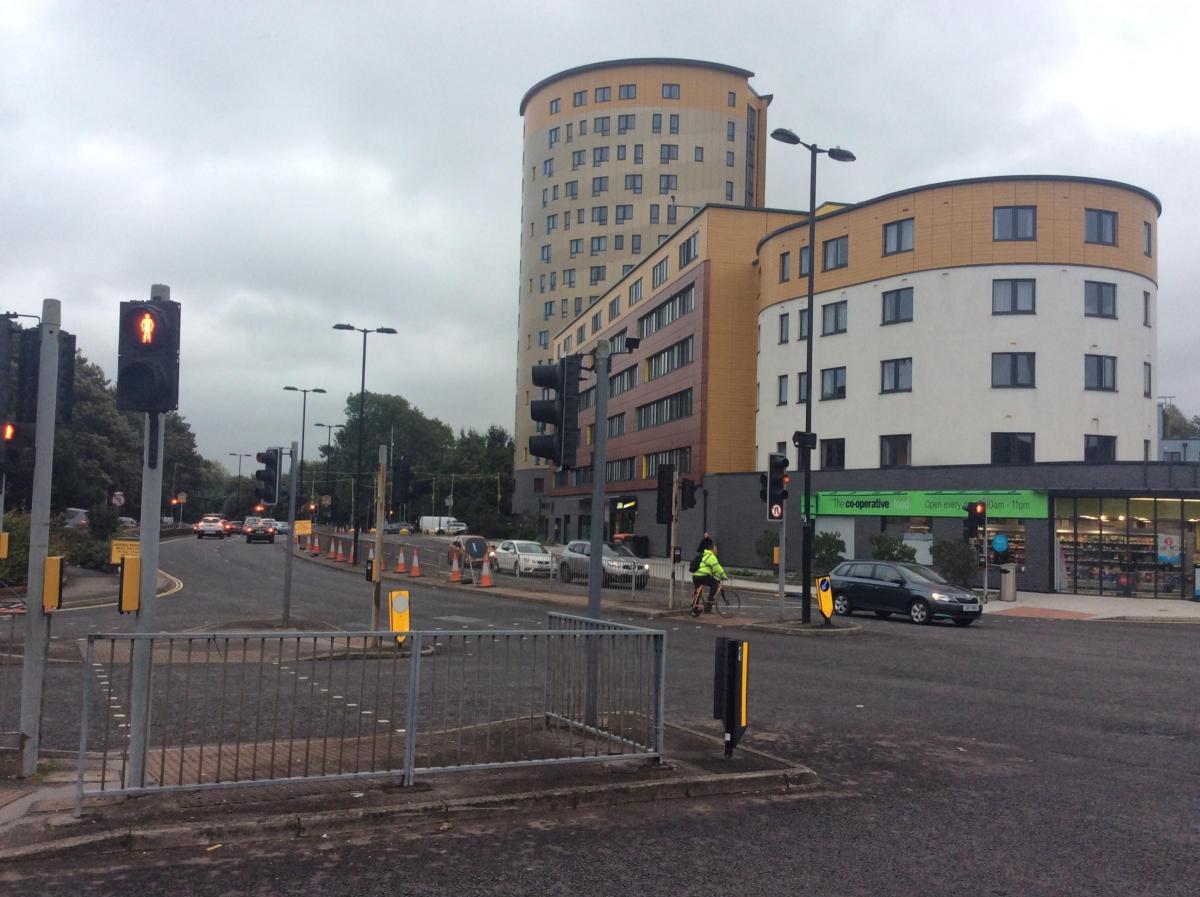 PHOTOS: Work begins on Stoneham Way, Southampton