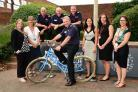 Hampshire chief fire fighter officers cycle for charity