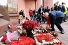 Labour leader Jeremy Corbyn visits the Hillsborough memorial at Anfield