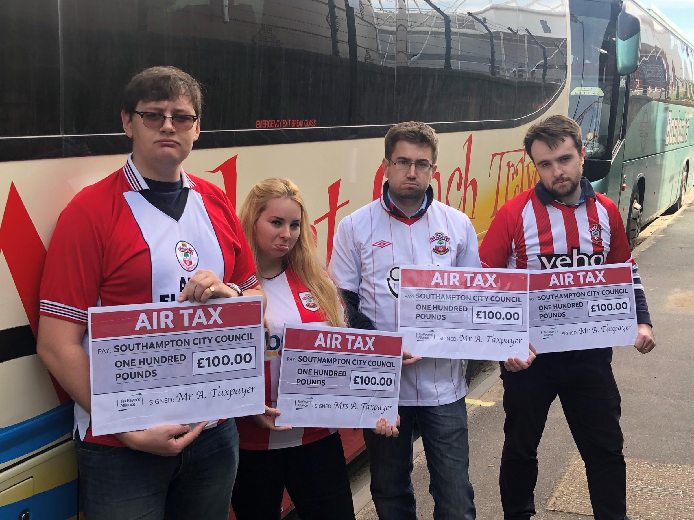 Taxpayers' Alliance went to St Mary's to campaign against proposals to charge for entering the city