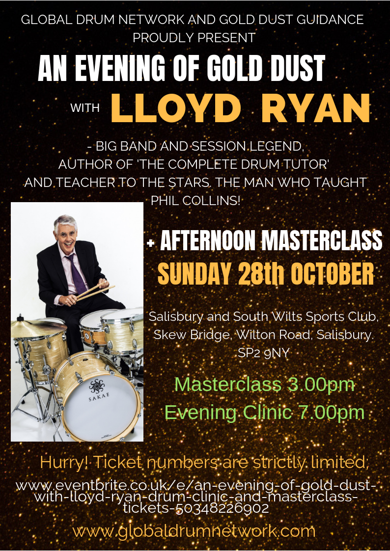 An Evening of Gold Dust with Lloyd Ryan - Drum Clinic and Masterclass