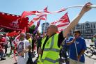 10 July 2014  - Strike rally by various unions including Unison , Unite , NUT  involving Teachers , Council staff and public sector workers at Southampton Civic Centre.