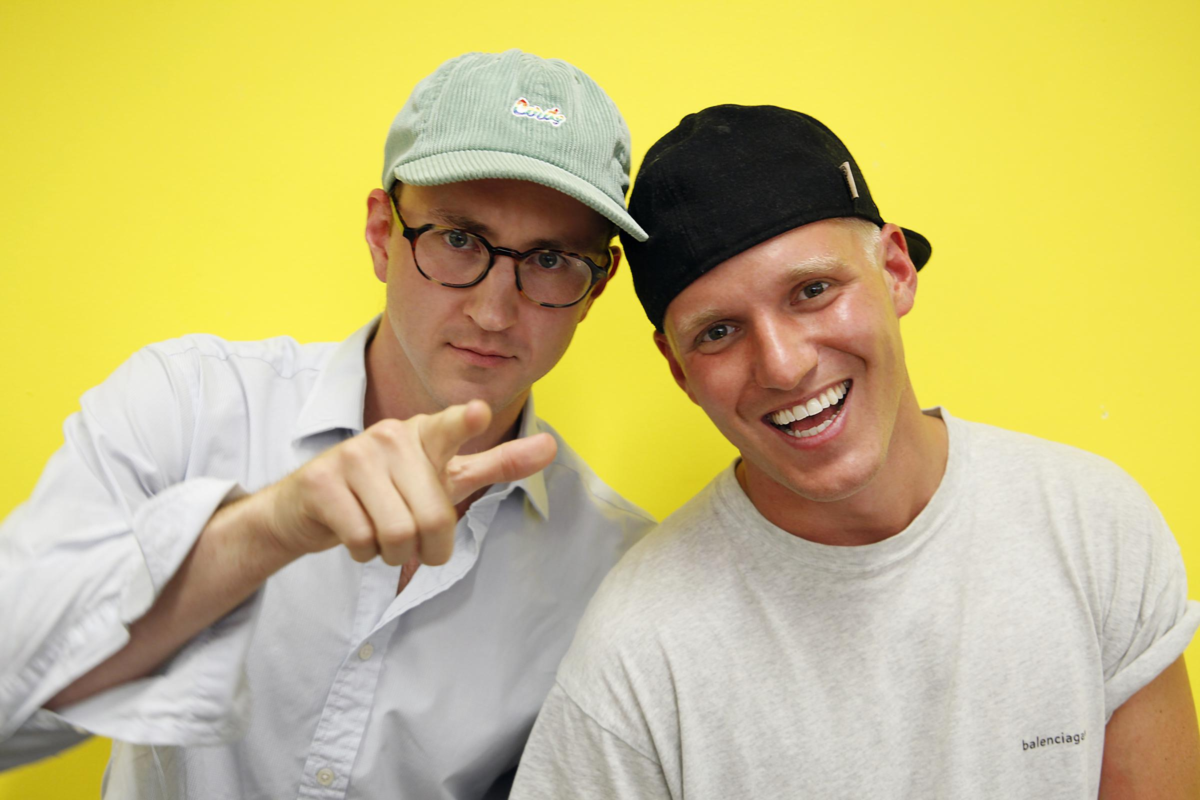 Private Parts at Nuffield Theatre :Jamie Laing and Francis Boulle.