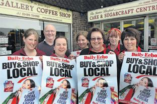 SUPPORT US: Traders in Hedge End are backing the Daily Echo's Buy & Shop Local campaign. Echo pictures by Joanna Mann. Order no: 8420190
