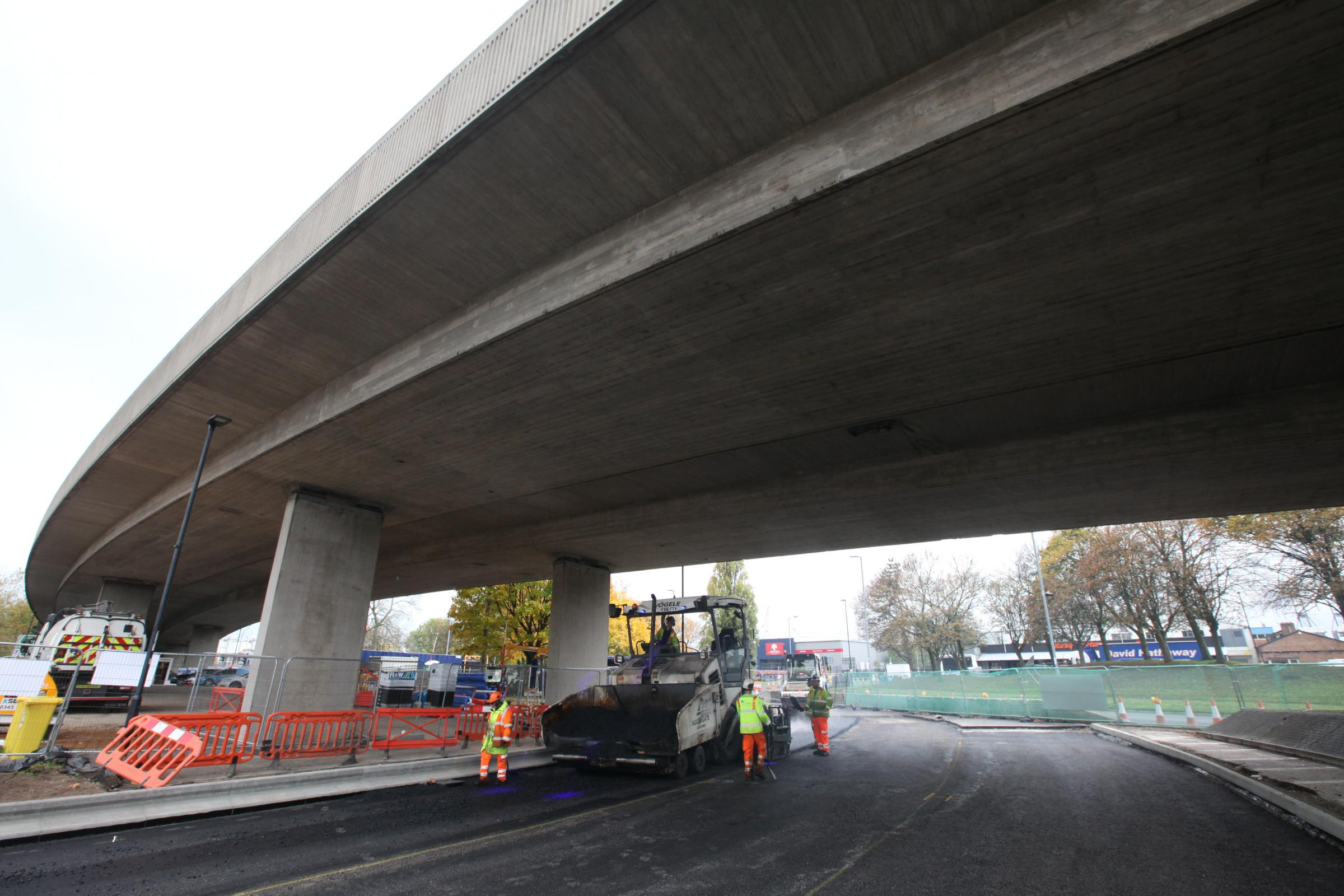 Millbrook roundabout as it reaches end of phase 1 in £8.3m improvements