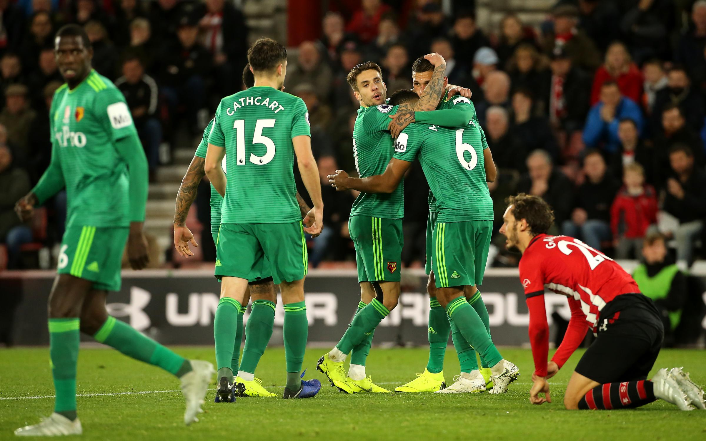 Jose Holebas scores a late equalizer as Southampton draw 1-1 with Watford at St Mary's