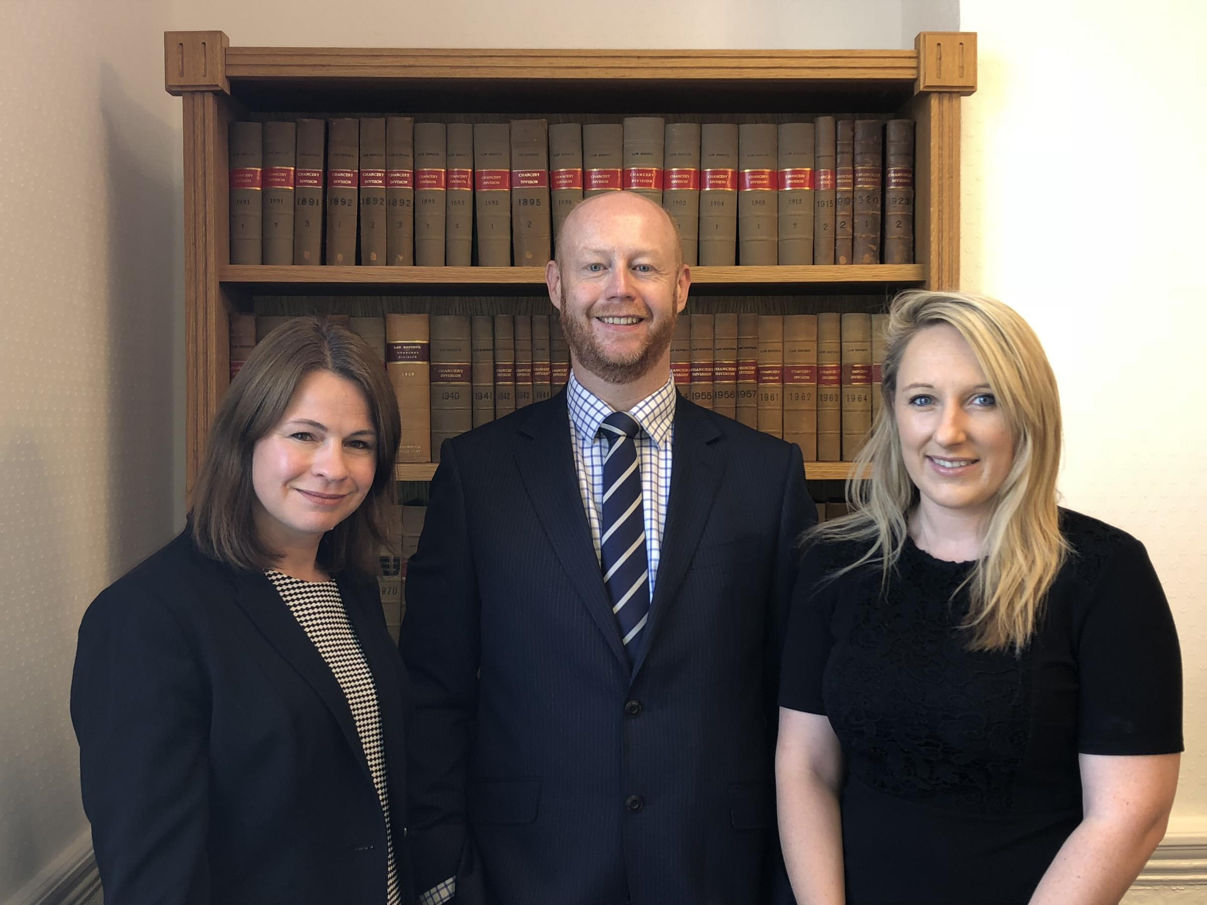 DC Employment Solicitors, from left, Caroline Oliver, Darren Tibble and Claire Helling
