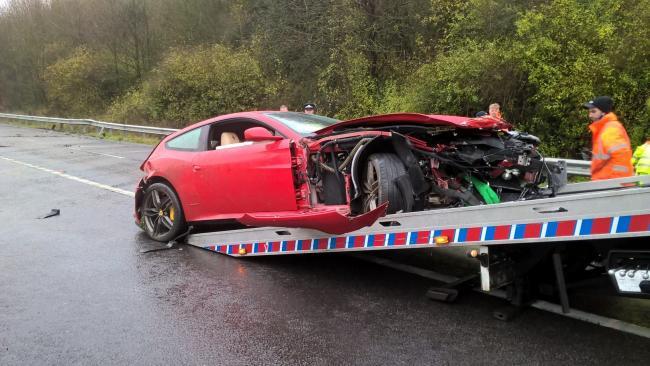 Ferrari Crashes On M3 Near Winchester Daily Echo