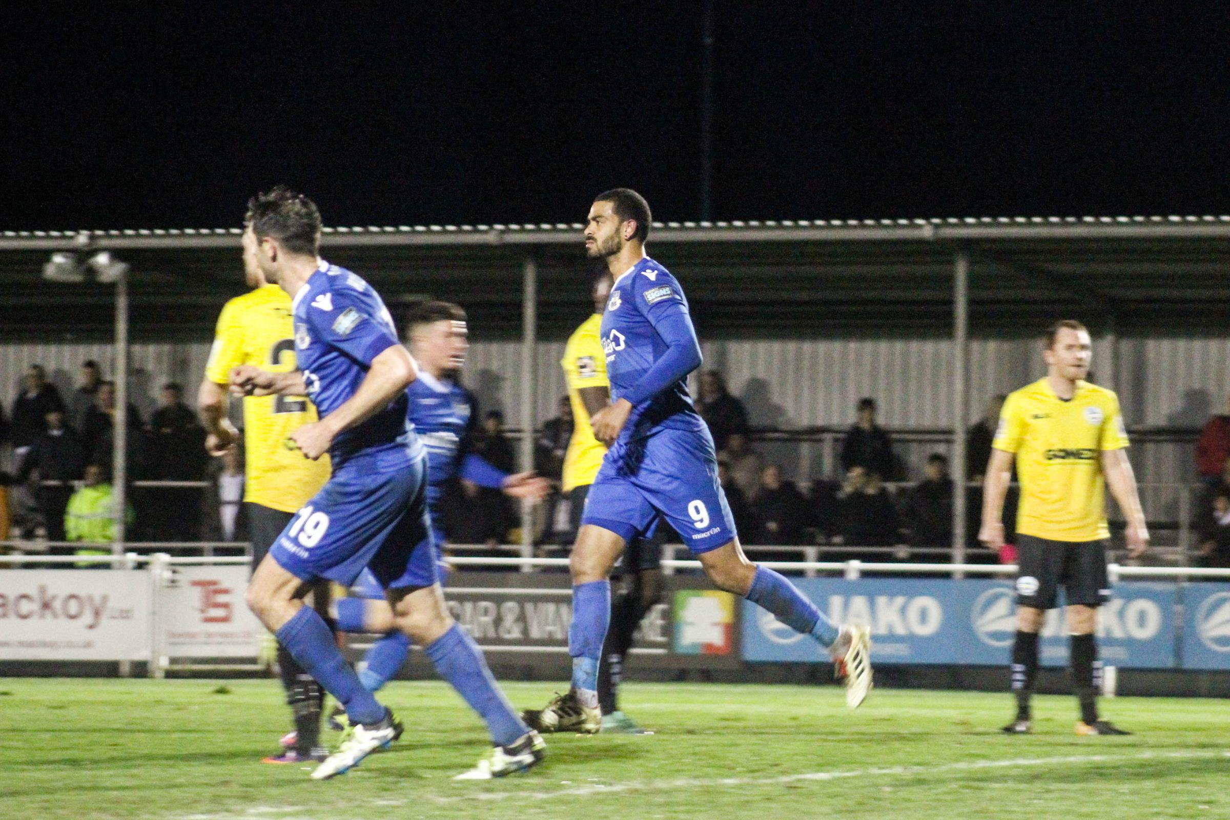 Paul McCallum (No9) turns away after netting the equaliser. Photo: Tom Mulholland