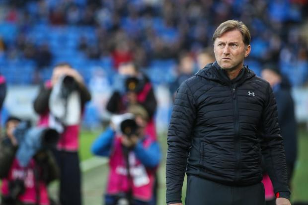 Daily Echo: Ralph Hasenhuttl during his first match in charge at Cardiff