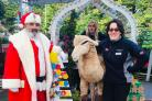 Father Christmas, Dawn Manby and Kirsty Evans.