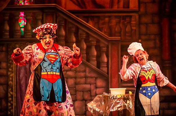 Julian Eardley and Ed Thorpe in Beauty And The Beast at Theatre Royal Winchester
