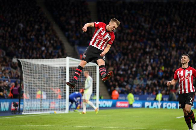 James Ward-Prowse celebrates his goal against Everton