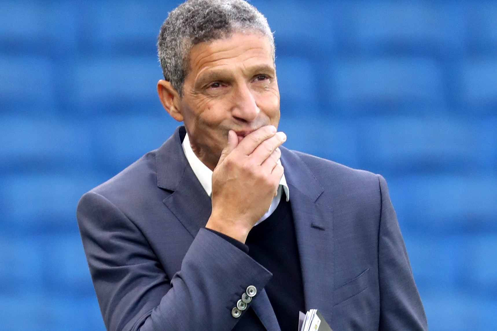Chris Hughton is preparing to face Manchester United