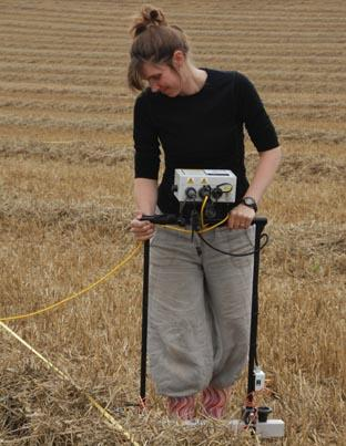 DISCOVERY: Dr Helen Wickstead at the site.