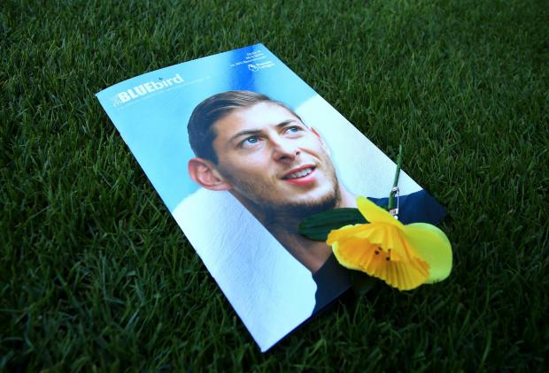 Daily Echo: Cardiff paid tribute to Emiliano Sala on the front of their programme